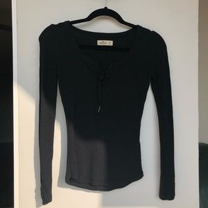 Black Hollister Long Sleeve Top Size XS